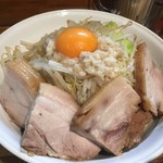 麺処 マゼル - ブタ増し300g、ヤサイちょいマシ、アブラ