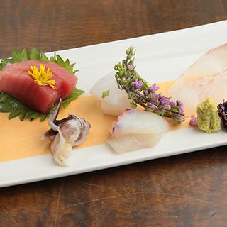 熟成させた季節の鮮魚は、旨味を引き出した状態でご提供◎