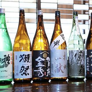 料理の味を引き立てる◎厳選した日本酒をご堪能ください。