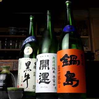 楽しくワイワイ飲んで欲しいから…日本酒、焼酎こだわりました!