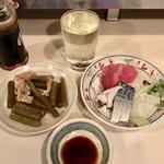 鈴傳 - 作&お刺身&蕗の煮物