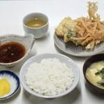 天ぷら定食ふじしま - ■天ぷら定食 580円