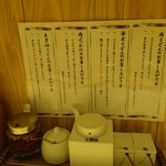 Nihombashisanukiudonhoshino - 卓上セット(18-04)