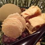 燙菜 - わらび餅とアイスの和スィーツです。