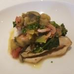 オステリア アバッキオ - 的鯛と牡蠣のヴァポーレ