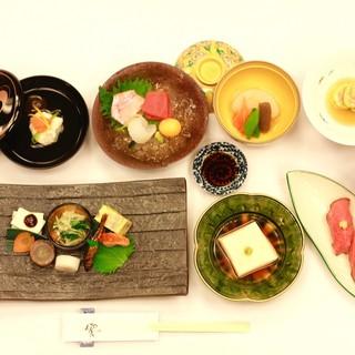 京都の旬の食材を使った、会席料理や一品料理