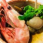 炭魚酒菜 わなか - ばい貝が美味しい。