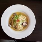 83493070 - たらことタコと水菜のオイルパスタ(1350円)です。
