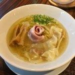 らーめん本竈 - 塩海老ワンタン麺