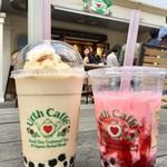 Urth Caffé - オーガニックアールグレイポパ 720円(シャーベット) 季節限定のイチゴ 680円