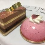 83500984 - 桜いちご520円糖質制限スイーツ、スリムショコラ520円