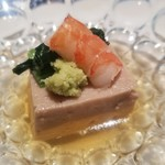 旬家 和しん - 胡麻豆腐と海老
