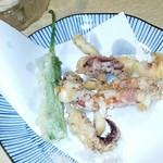 83508405 - イカげそ天ぷら ちょっと食べましたf(^^;