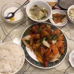 上海台所 - 酢豚定食@700円