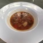 83511283 - ミネストローネは塩加減控えめの優しい味わいです。