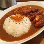 ユーカリー - 料理写真:スパイシーチキンカツカレーのM(840円)のバリ辛(+50円)