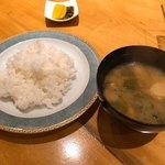 大屋冨幸  - ご飯、お味噌汁、お漬物はどれも美味しい
