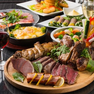 厳選肉とチーズの肉バル料理が並ぶコースは2480円~♪