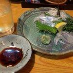 魚拓 - サヨリ刺身