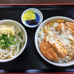 麺喰 - カツ丼セット^^