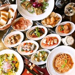 本場の味を楽しむ、イタリア料理の数々