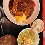 中華のんき - オムのっけ サラダ スープ付き