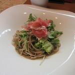 83521975 - 「生ハムと生野菜のオリーブオイルの和え蕎麦」