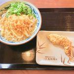 丸亀製麺 上石神井店 - かけうどん(大)(ネギ・天かすはセルフサービスのトッピング)、かしわ天