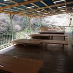 カントリーレストラン 渓流荘 - 川床で食事って最高ですね~