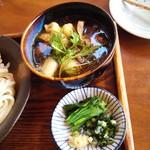 野口製麺所 - 肉汁と糧(煮野菜)