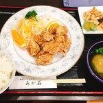あか石 - 若鶏の唐揚げ御膳 950円