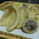 蕎麦処 空庵 - 天ぷら盛り合わせ