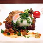 上州和牛のステーキ すき焼き風
