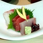 銀波 - 鮮魚三種盛り合わせ