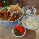 肉汁麺ススム - 肉汁麺レベル3+もやし増し+白飯並