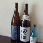 蕎麦処 空庵 - ドリンク写真:田酒・空庵・奥丹波木札・月山
