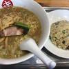 中華そば まるき - 料理写真:中華そば(小)+チャーハン(小)