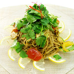 organic super vegan 割主烹従 飛竜 - パクチージェノベーゼ(玄米麺)