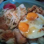 いのうえ家 - 焼豚玉子飯の餃子セット750円