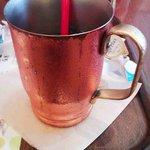 上島珈琲店 - アイスコーヒーの銅製マグ