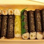 ぎんざ日乃出本店 - 8種類の細巻き寿司