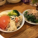 壱番館 - ポテトサラダ、菜の花