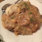 ティンバーズ カフェ ツキジ テーブル - (料理)じゅ~し~トリモモ肉のソテー