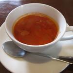 はもん亭 - 特製ハンバーグランチ スープ