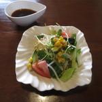 はもん亭 - 特製ハンバーグランチ サラダ