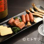 エナブ - 燻製マヨネーズをつけて食す『ししゃもの黄金焼き』は日本酒と一緒に味わうのがおすすめ