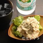 エナブ - 自家製ベーコンと燻製マヨネーズを使った『燻製ポテトサラダ』は【Enab】ならではの逸品