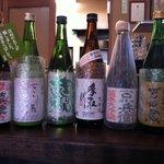 まんま亭 楽 - 利き酒師でもある料理長お勧めの日本酒は、全国から入荷しております。