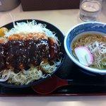 三河麺don家 - 料理写真:味噌カツセット
