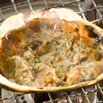 カニ味噌甲羅焼き